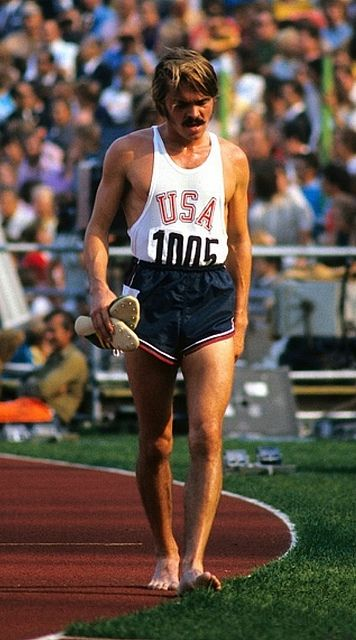 Steve Prefontaine after placing 4th in the 5000m final of the 1972 Munich Olympics