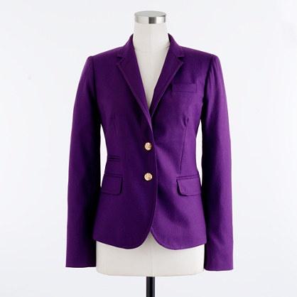 Schoolboy blazer in wool flannel - schoolboy - Women's blazers - J.Crew Dark grape, heather caramel $198