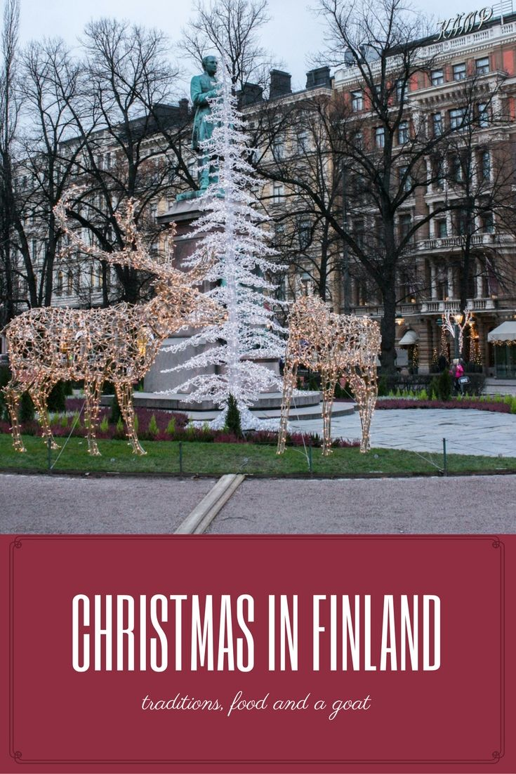 Traditions, Food and a Goat - Christmas in Finland