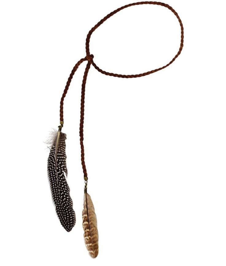 Feather Tie Headband