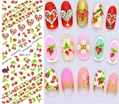 56 best nail stickers images on pinterest black clothes and makeup new water transfer stickers for nail strawberry rabbit anchor nail wraps sticker watermark fingernails decals prinsesfo Choice Image