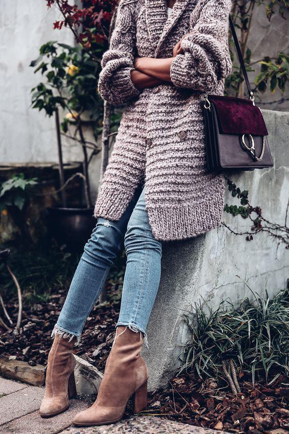 Details about NWT ULLA JOHNSON Hand Knit Aiko Alpaca Blend Long Oversized Cardigan Coat Rose