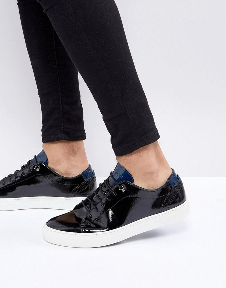 Ted Baker Duuke Patent Leather Sneakers - Black