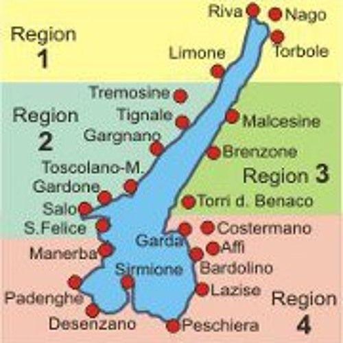 Gardasee Landkarte Italien