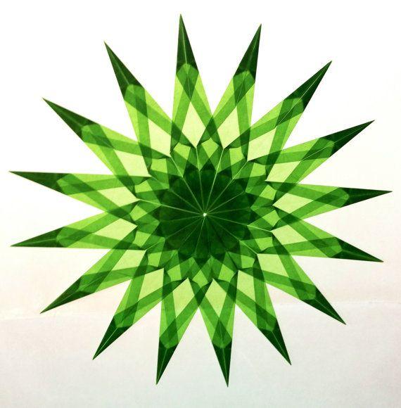 Light Green Window Star #8