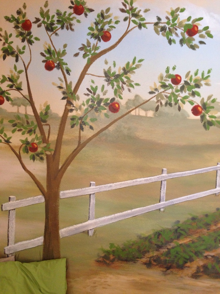 17 best images about tree painting on pinterest vinyl for Apple tree mural
