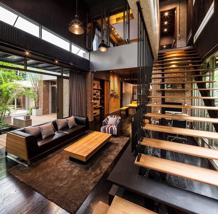 Lofts like this one from @dopedecors provide the best use of space. Tag someone who prefers a loft to a house