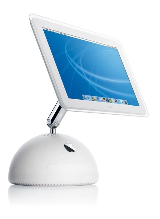 2002 The iMac G4 blooms The iMac G4 turns heads with an integrated flat-panel display on a stylish, flexible arm