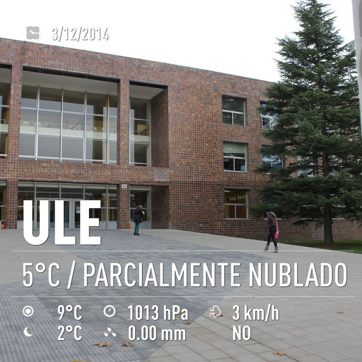 El tiempo en el Campus de Vegazana 03/12/2014