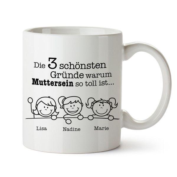 Becher & Tassen - Gute Gründe - Tasse für Mütter - Geschenk für Mama - ein Designerstück von LPZ bei DaWanda