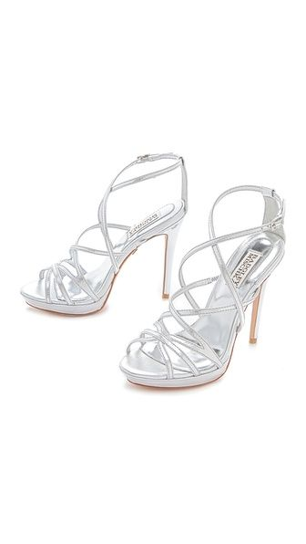 Badgley Mischka Adonis II High Heel Sandals // Shopbop ~i need silver heels for prom