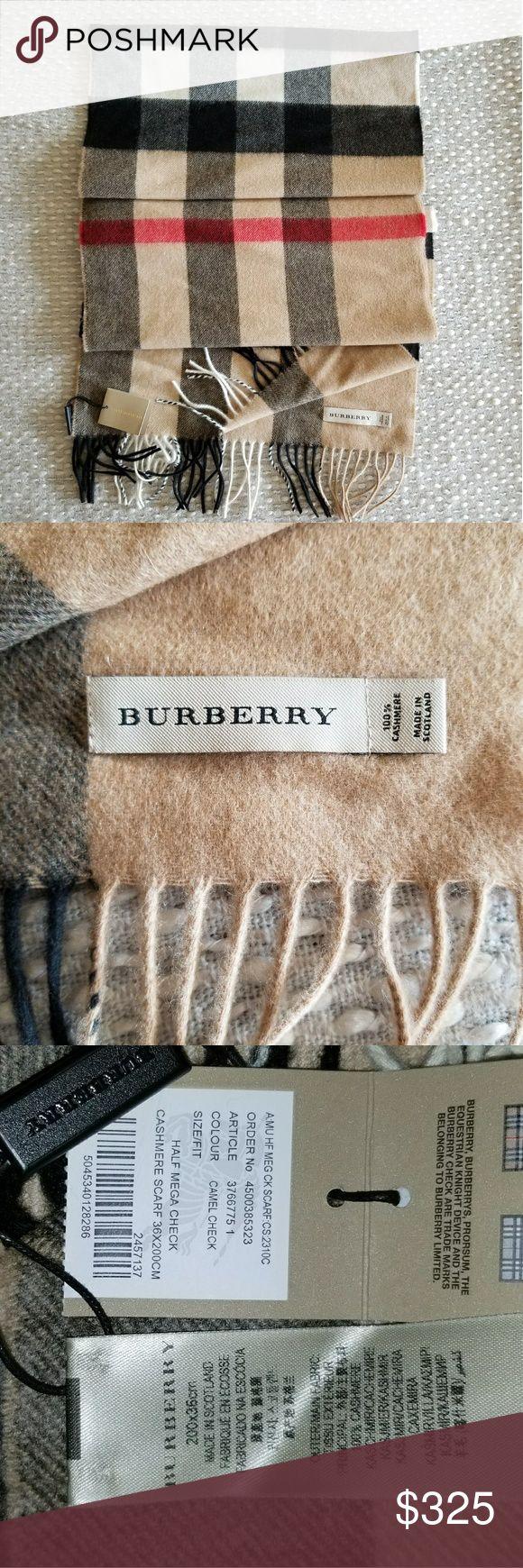 Cashmere scarf Camel color New Burberry Accessories Scarves & Wraps