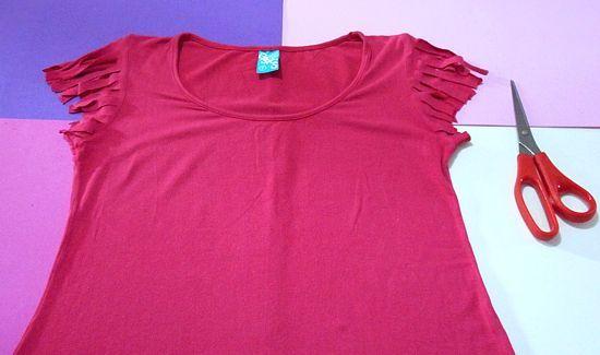 Tutorial para customizar camisetas femininas