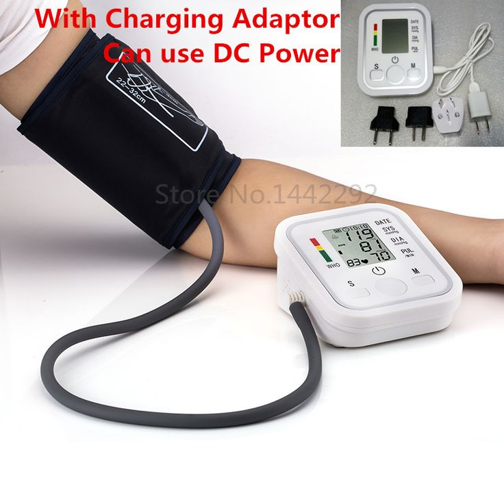 2015 Health Care 1pcs Digital Lcd Upper Arm Blood Pressure Monitor Heart Beat Meter Machine Tonometer for Measuring Automatic