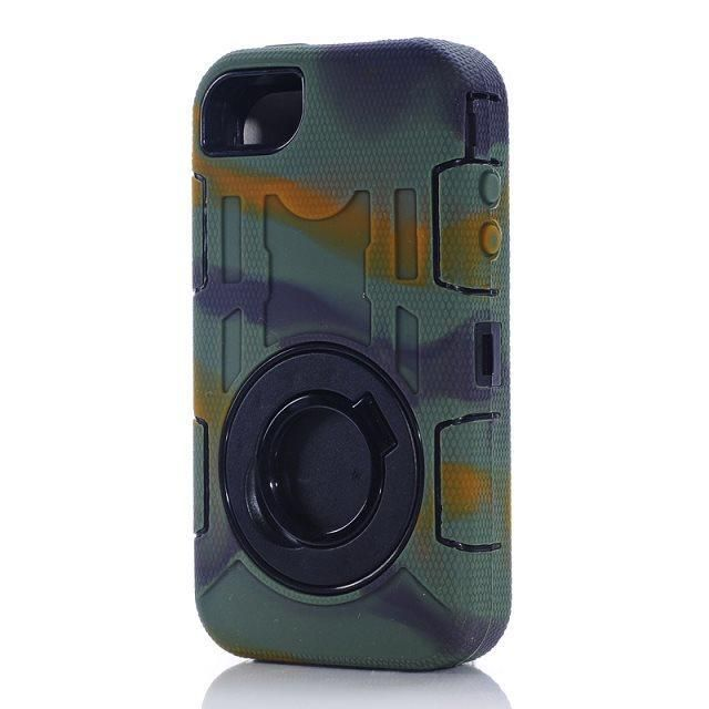 ZHW  Rugged Combo Back Cases for iPhone 4S Impact Stand Armor Cases for iPhone 4G 5S SE 5G 6S Plus Shockproof Hybrid Shell Cover