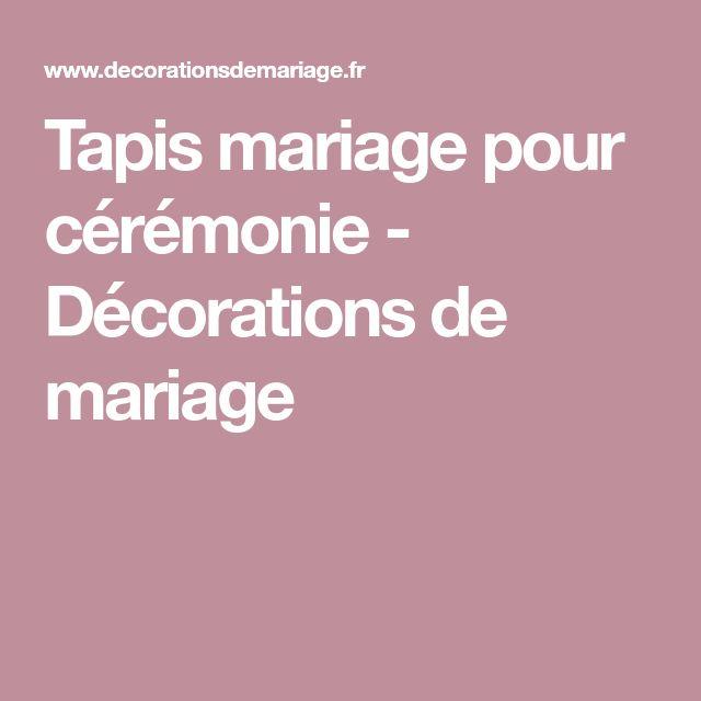 Tapis mariage pour cérémonie - Décorations de mariage