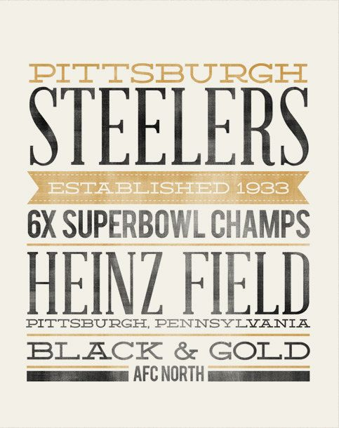 PITTSBURGH STEELERS  subway art