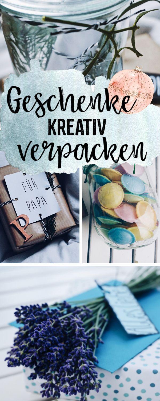Geschenke kreativ verpacken + Geschenkanhänger zum Ausdrucken