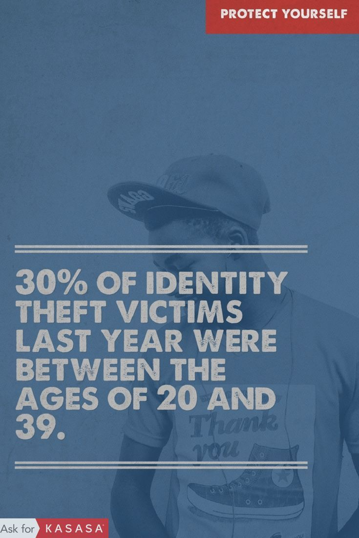 Identity theft doesn't just happen to Grandma. In 2015, U.S. consumers reported 490,220 cases of identity theft to police. 30% of the victims were between the ages of 20-39 years old. Is your money safe? Check out our Definitive Guide to Fraud Protection to protect yourself from identity theft: https://blog.kasasa.com/2016/06/definitive-guide-fraud-protection/