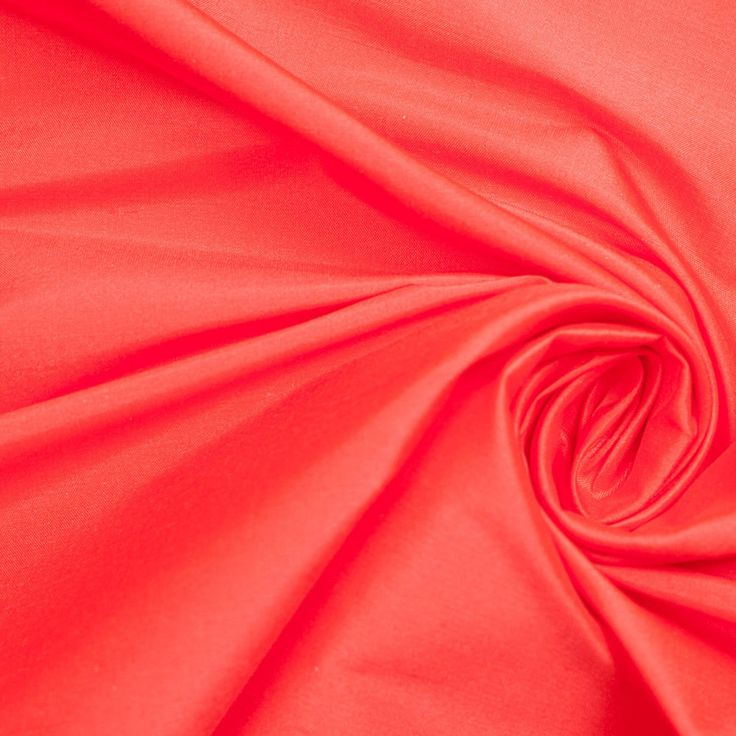 Fiery Red Silk Shantung/Dupioni