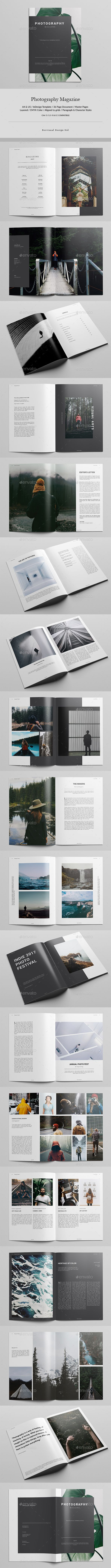 Photography Magazine Template InDesign INDD