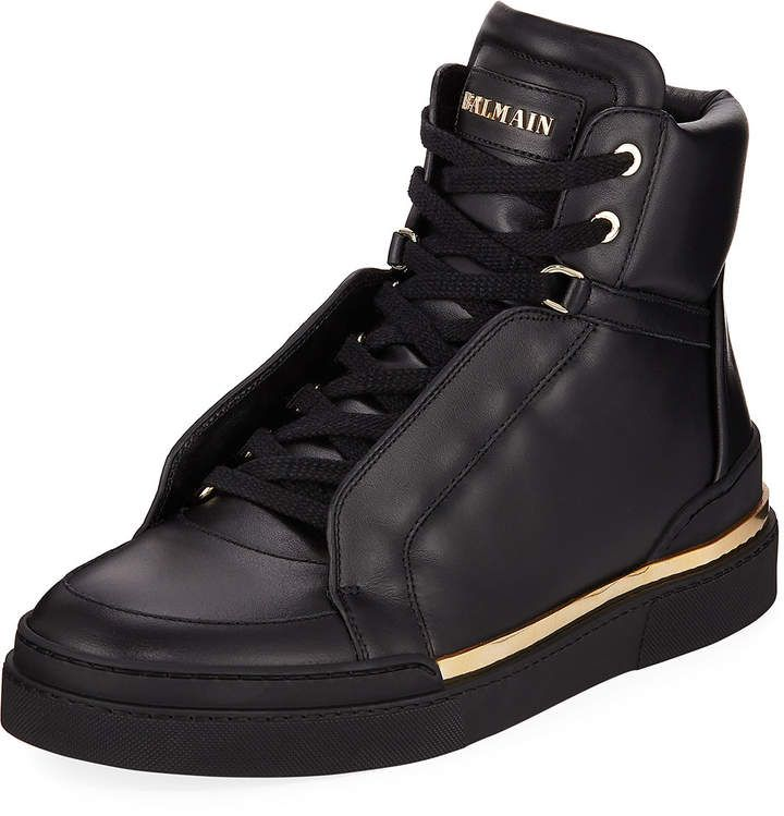 Balmain Mens Atlas Suede High Top Sneakers In 2020 Suede High
