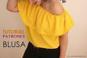 DIY Video-tutorial y patrones de blusa sin hombros