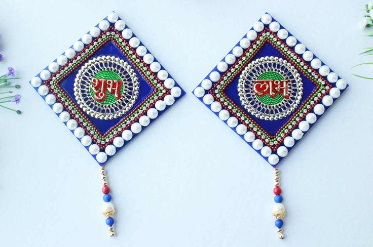 Shubh Labh Acrylic set - V :: - on Rudraksh Ratna-Rudraksha necklace,Yantra,Malas,Hindu Meditation Items