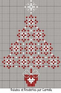 Christmas tree cross stitch -- she has so adorable examples done on gingham!