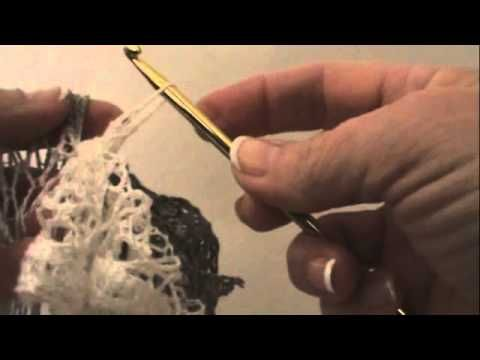 Easy Crochet Sashay Ruffle Scarf tutorial. In this video you don't skip holes. I like that better