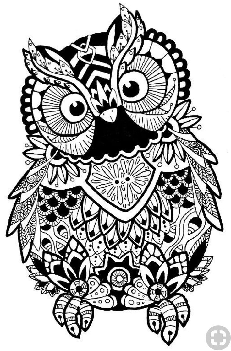 818 best coloring owls images on pinterest coloring books coloring pages and mandalas. Black Bedroom Furniture Sets. Home Design Ideas
