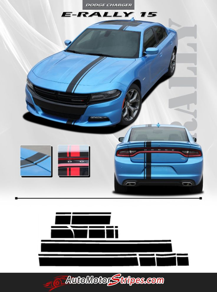 Vehicle Specific Style Dodge Charger E-Rally Euro Style Rally Vinyl Graphic Racing Stripes Package Year Fitment 2015 2016 - All Models Contents Bumper to Bumper