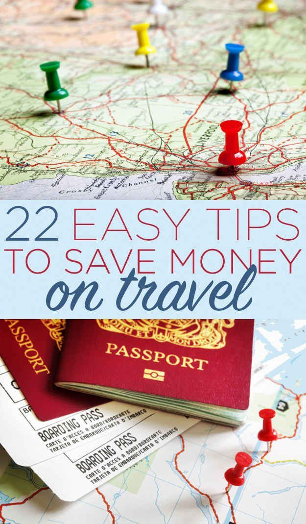 22 Insanely Simple Ways To Save Money On Travel. LOVE these tips. Another great resource for family travel or solo travel.