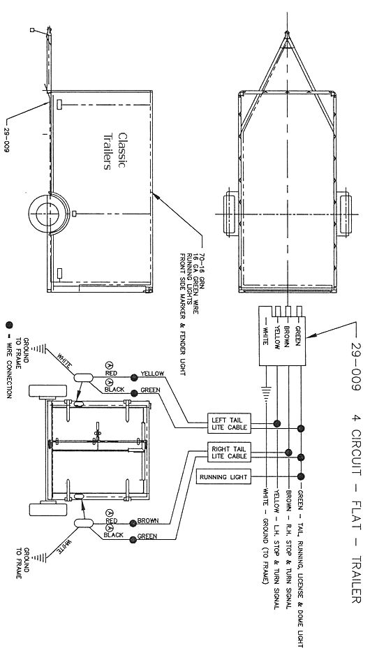 trailer wiring diagram 4 wire circuit trailer ideas pinterest Wiring Harness Diagram bed lift wiring diagram
