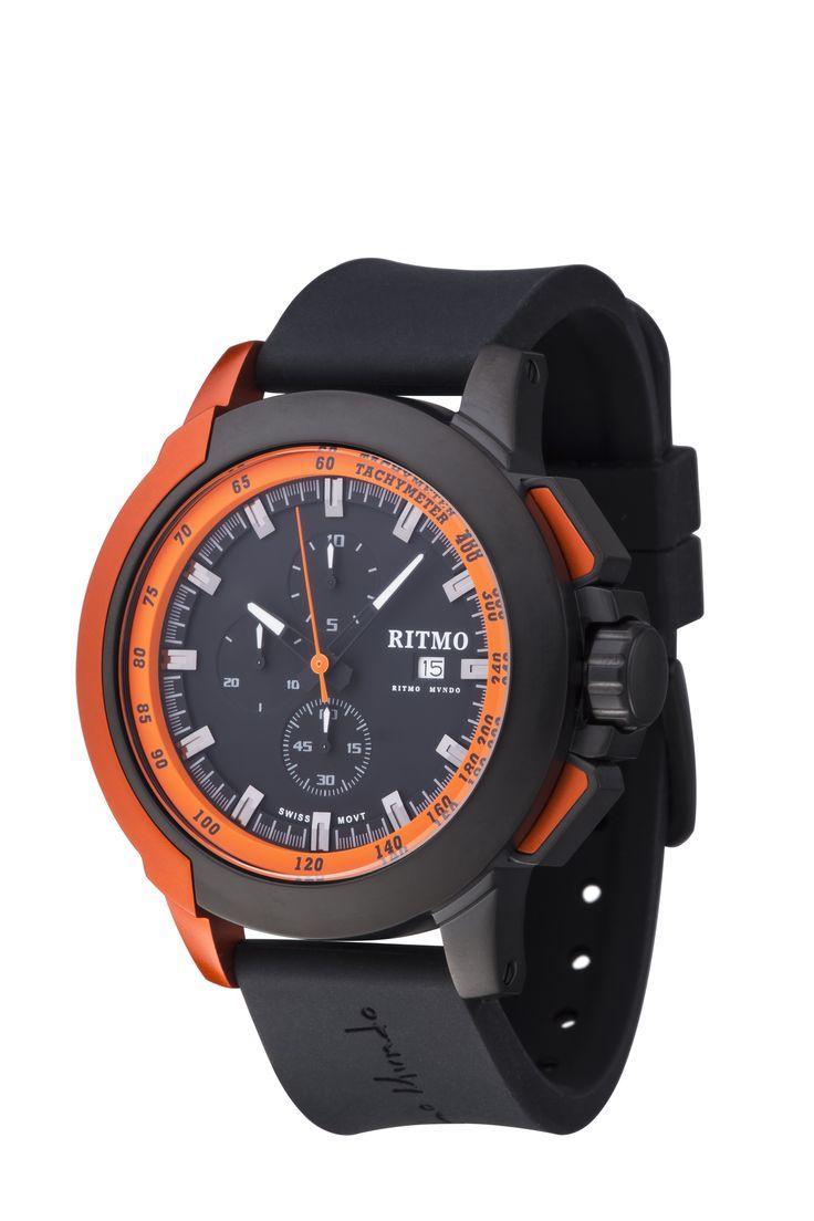 Quantum II Orange 50mm Sport Swiss Chronograph
