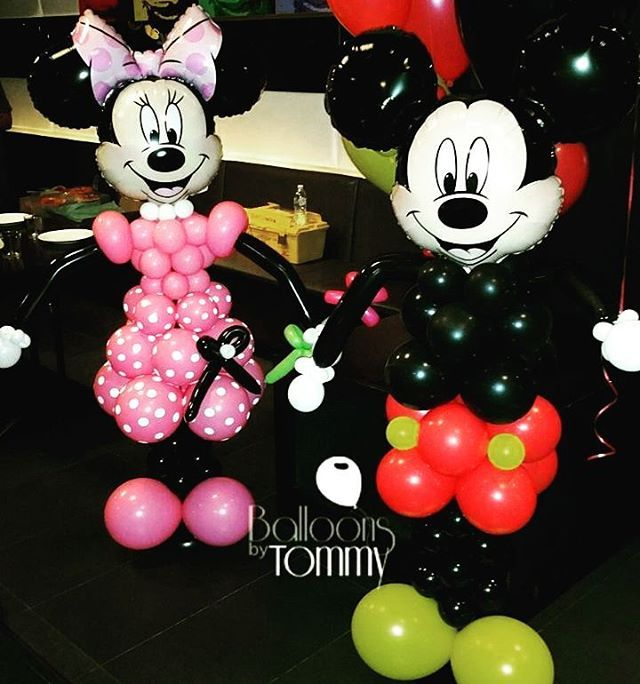 10 best mickey mouse and minnie mouse balloon decor images for Balloon decoration minnie mouse