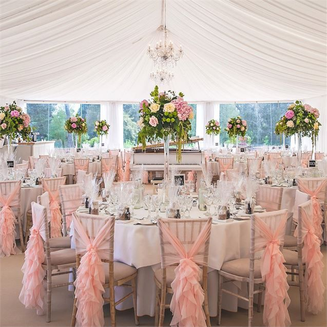 Chair covers have a romantic makeover! Ellis Events - Creative Chair Cover Hire and Venue Styling