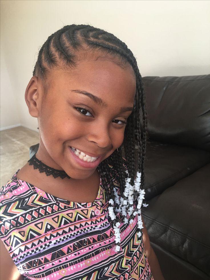Little Black Girl Hair Styles Braids Beads Barrettes