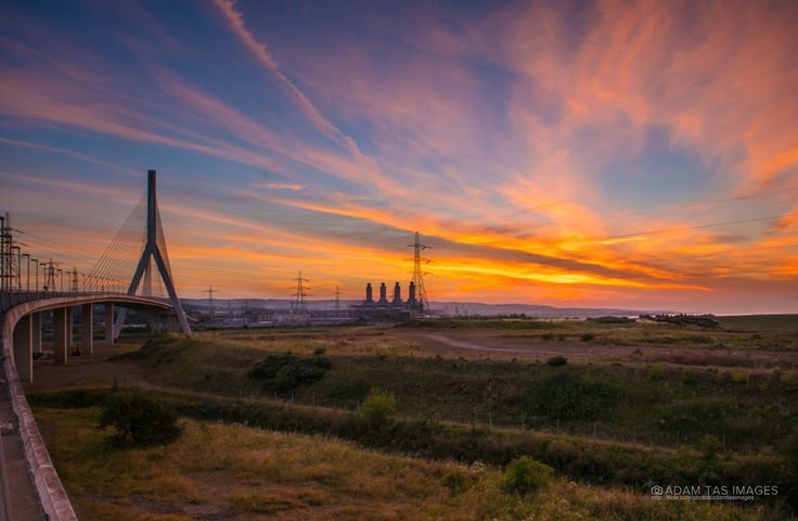 https://flic.kr/p/LZw1m8 | Flintshire on fire | A sunset over the Flintshire Bridge.   The Flintshire Bridge is a cable-stayed bridge spanning the Dee Estuary in North Wales. The bridge links Flint and Connah's Quay to the shore north of the River Dee at the southern end of the Wirral Peninsula.