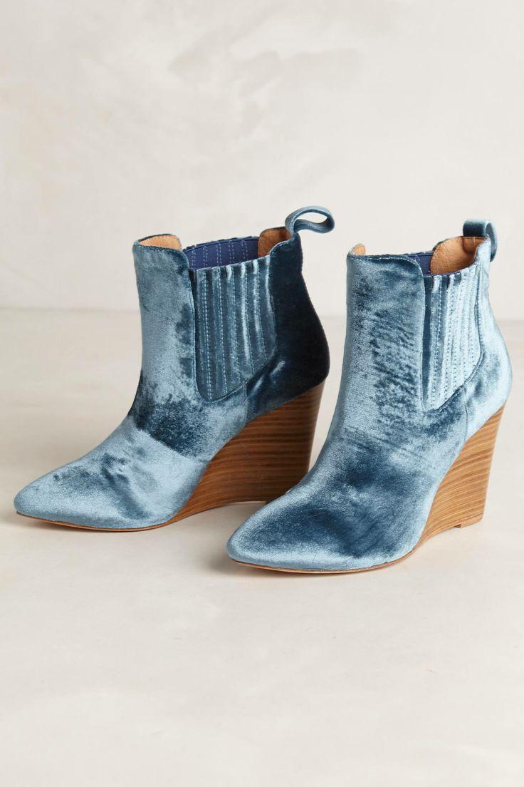 vigneto velvet booties anthropologie shoes