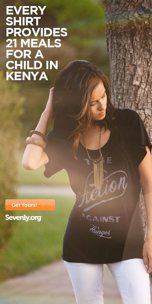 every shirt provides 21 meals for a child in kenya