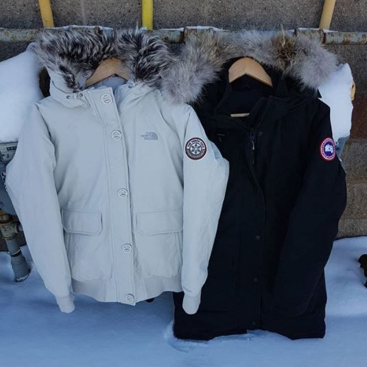 Baby it's cold out there...you need to stay warm! so make a simple choice....black or white?  #northface size M 125.00 #canadagoose size M 600.00 find them @platosclosetcambridge today!  #toocold #staywarm #downfilled #gentlyused #shoplocal #shopcambridge | www.platosclosetcambridge.ocm