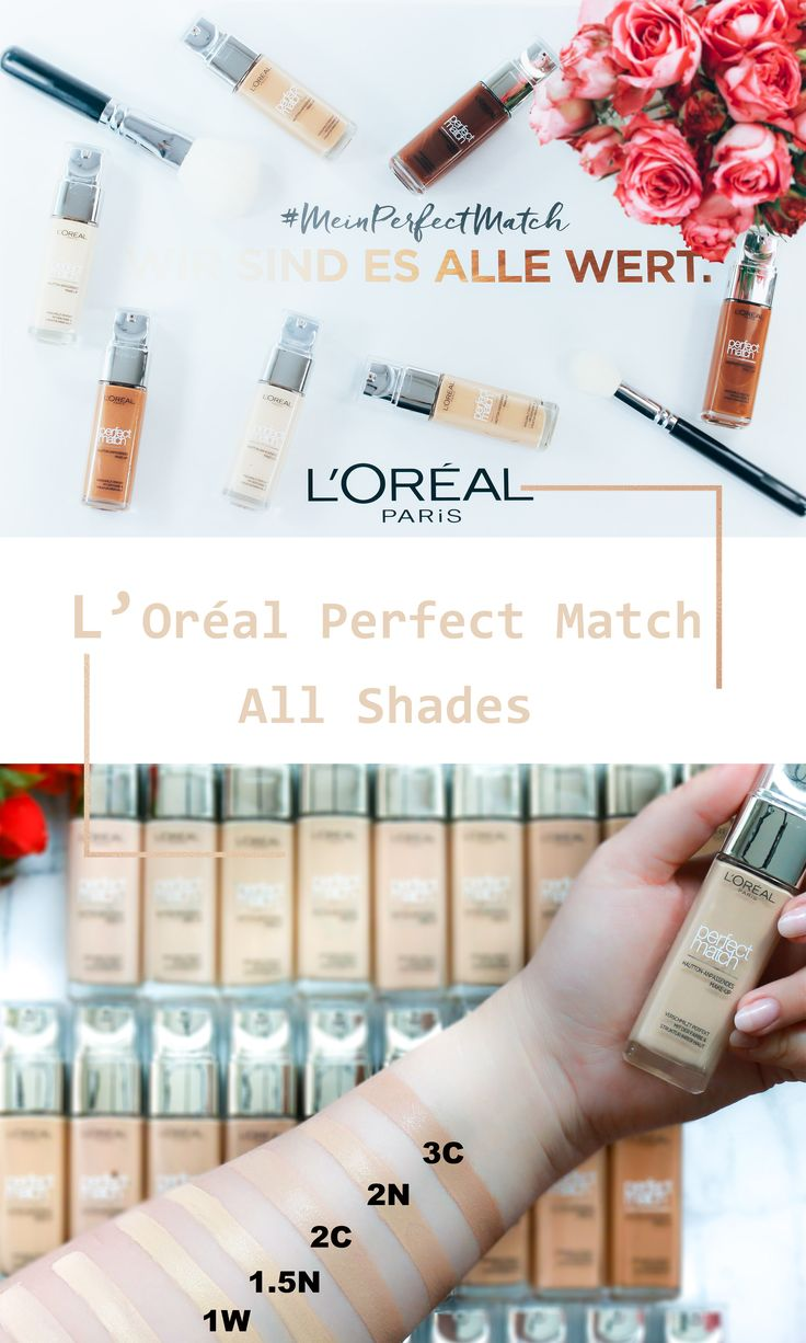 L'Oréal Perfect Match Foundation - Find all 29 Shades on www.innenaussen.com