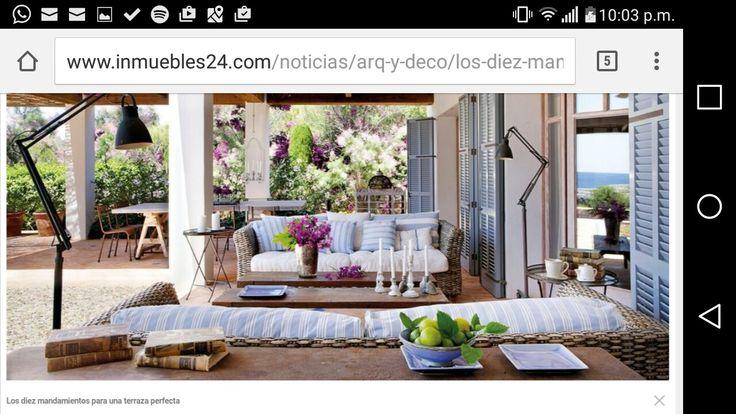 Terraza cozy interiores sal n al aire libre for Terraza decoracion apartamento al aire libre
