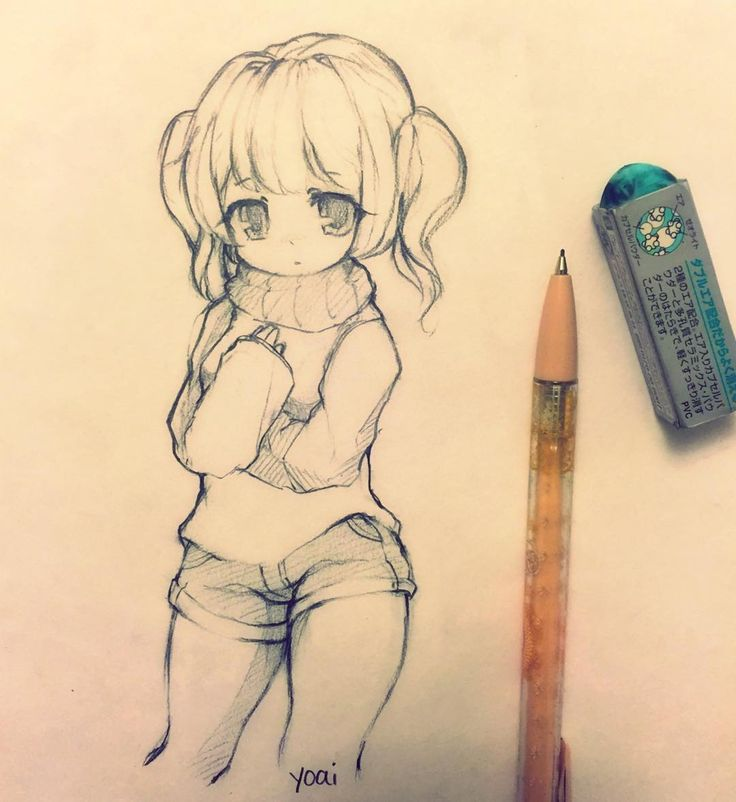 i made another sketch of the girl I drew earlier today(yesterday). i ended up forgetting about my errands and just slept all day (ノ ̄д ̄)ノ #sketch #drawing #art #anime #kawaii #cute