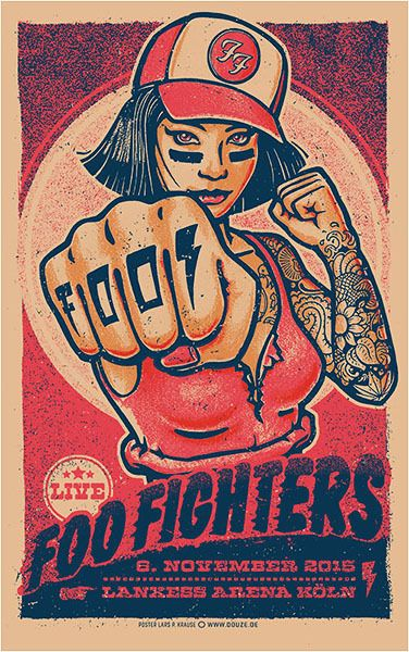 Foo Fighters #gigposter by Lars P. Krause.                                                                                                                                                     More