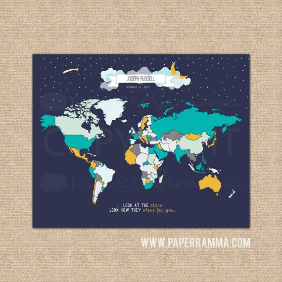 Best 25 kids world map ideas on pinterest world map design paperramma kids world maps nursery prints wedding guestbooks custom nursery art prints creative travel maps more gumiabroncs Images