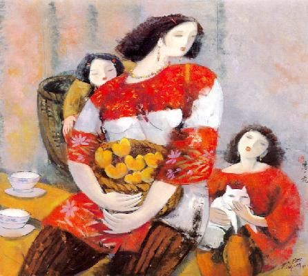 Motherhood  Ink and gouache on rice paper  86cm x 96cm