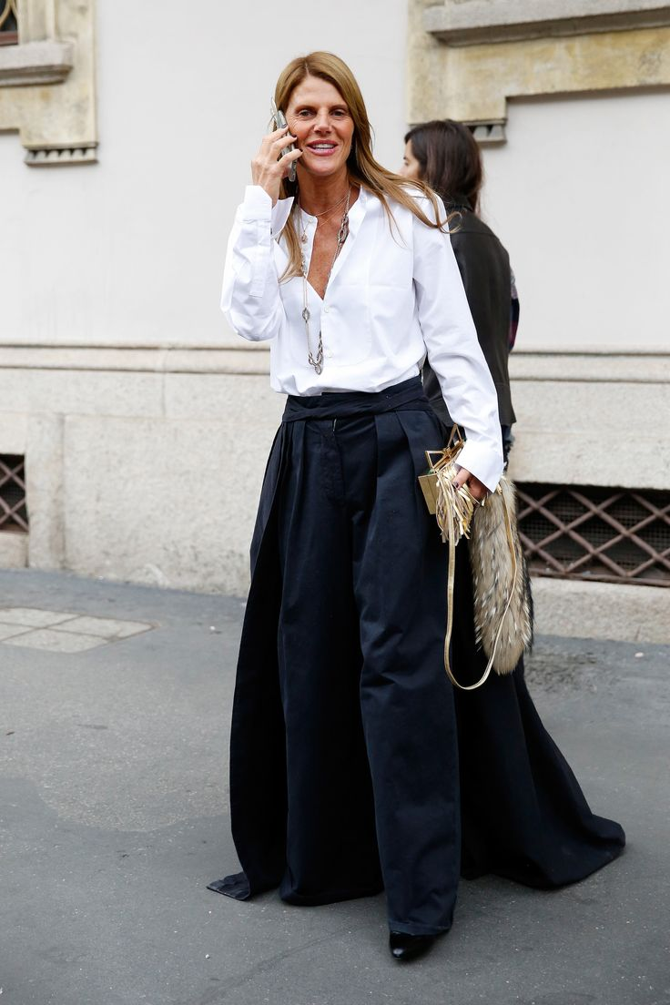 Anna Dello Russo - Milan Fashion Week #StreetStyle