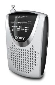 COBY CX-17 Mini AM/FM TV Weather Band Pocket Radio with Speaker by Coby. $34.96. Amazon.com                Whether you're in the city, mountains, or woods, you can hear all the latest with the Coby CX-17 compact radio. Featuring TV and weather bands, the CX-17 lets you keep up with the latest weather reports or tune in to the television programs that you have to miss. Or you can also check out the latest news and traffic reports, follow your favorite sports teams, o...